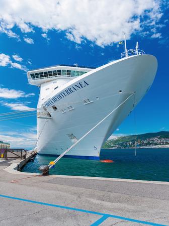mediterranea: Trieste - Agust 2016, Italy: Italian Spirit-class Cruise ship Costa Mediterranea in port