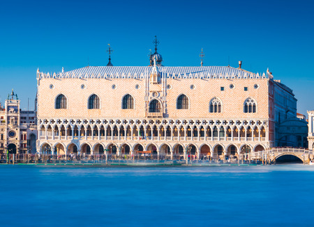 Venice - January 2017, Italy: View of The Doges Palace (Palazzo Ducale), the famous landmark of Venice Editorial