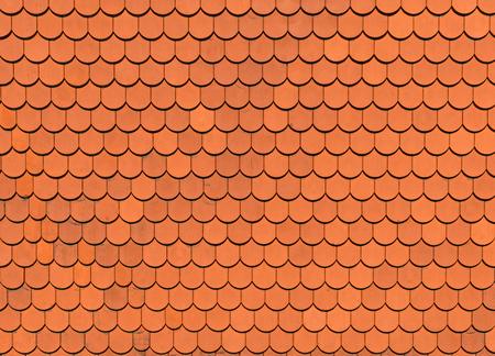 Orange roof tile texture, background Standard-Bild