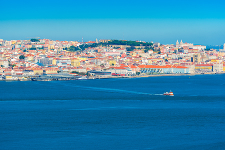 Panorama of Lisbon and the River Tejo, Portugal
