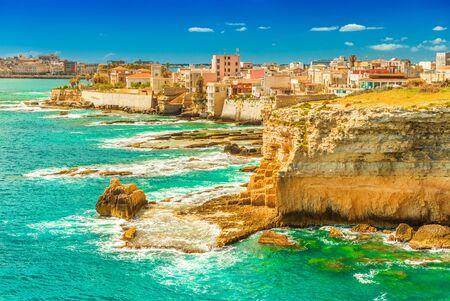 Beautiful seascape in Syracuse, Sicily, Italy Stockfoto