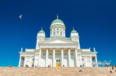 Helsinki - June 2019, Finland: Helsinki Cathedral on a summer day with clear blue sky