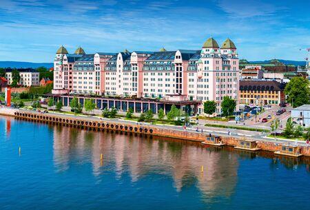 Oslo - June 2019, Norway: Building of Sajtókép