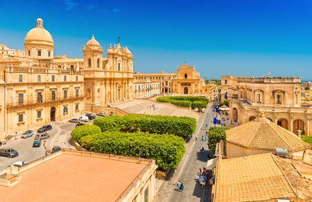 Cityscape of picturesque Noto. A small Sicilian town, Italy