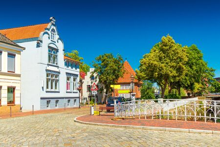 View of a street in Buxtehude, a small German town