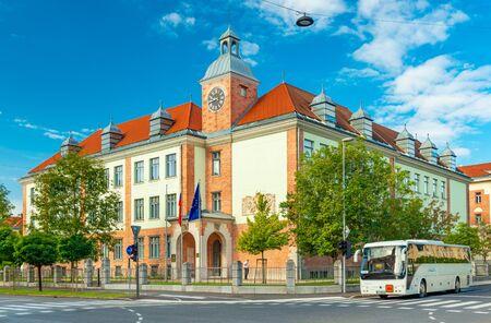 Ljubljana - September 2019, Slovenia: The building of Ministry of Foreign Affairs of Slovenia Sajtókép