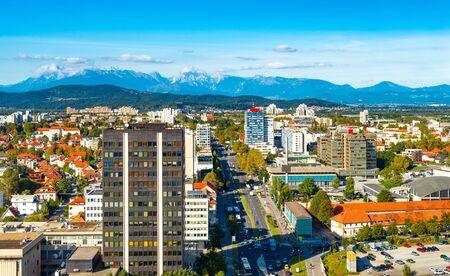 Beautiful aerial panorama of Ljubljana, Slovenia