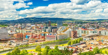 Beautiful cityscape of Oslo on a summer day, Norway