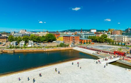 Beautiful panorama of Oslo on a summer day, Norway