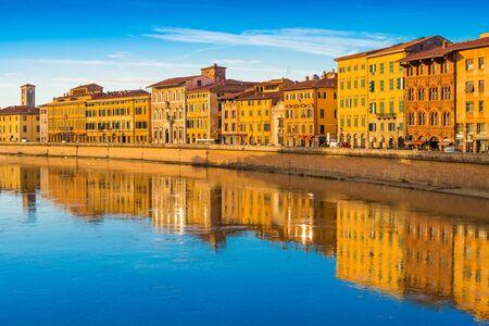Cityscape of the famous Italian city of Pisa, Tuscany, Italy Stock fotó