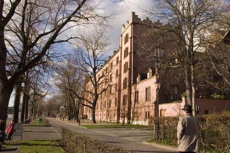 barracks: The former military barracks in Basle, Switzerland Stock Photo