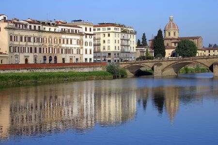 arno: The River Arno in Florence Stock Photo