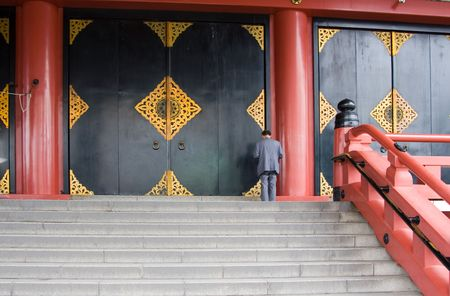 Giant doors of the Asakusa Kannon Temple in Asakusa, the oldest temple in Tokyo.