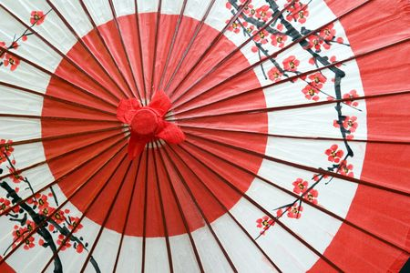 A traditional and decorative Japanese umbrella Stok Fotoğraf - 502305