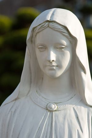 A statue of the virgin Mary Stock Photo