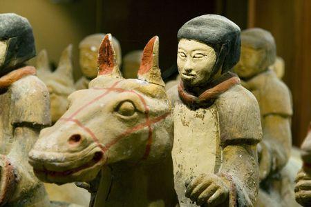 A terracotta warrior on horseback in Xuzhou Editorial