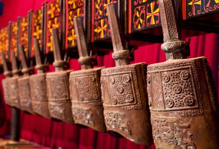 Ancient Chinese Zeng Bells in Xuzhou, China Stock Photo