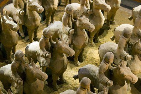 Terracotta warriors on horseback in Xuzhou
