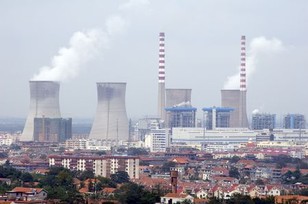 Nuclear reactor in Lianyungang, China Stock Photo