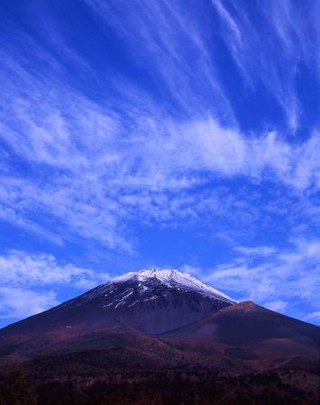 Beautiful Fall sky over Mount Fuji Stock Photo - 2084658