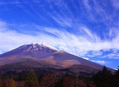 Beautiful Fall sky over Mount Fuji Stock Photo - 2084659