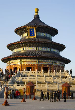 The beutiful Temple of Heaven in Beijing