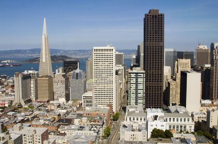 Spectacular daytime view of San Francisco, California
