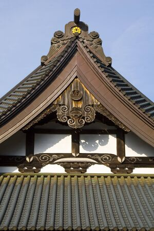 buddhist temple roof: Details of a Japanese Buddhist temple roof
