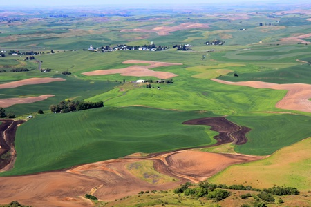 palouse: The beautiful hills of Palouse, Washington Stock Photo