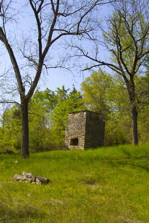 prospector: Fundición de plata vieja en el pueblo fantasma de Rush, Arkansas