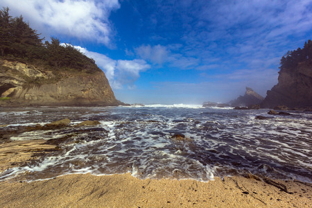 A secluded bay on the southern Oregon coast Stock Photo