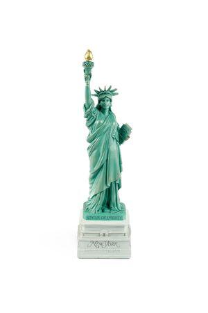 souvenir: Figurine Statue of Liberty on a wgite background