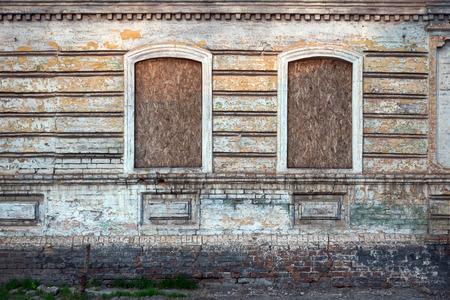 Old damaged windows, grunge windows texture