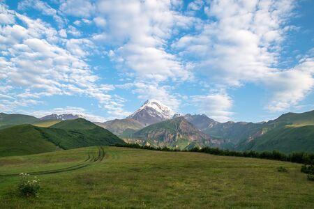 Mountain Kazbek view
