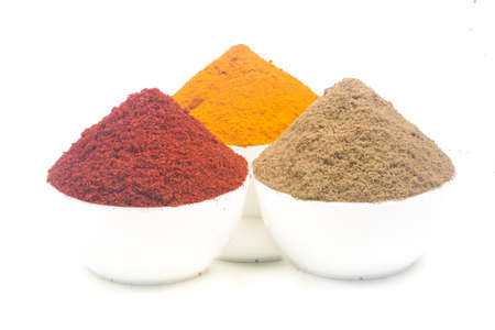 mage of spices isolated close up. 免版税图像