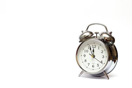 alarm clock on white background, For time concept. 免版税图像