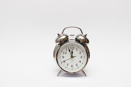 alarm clock on white background, For time concept
