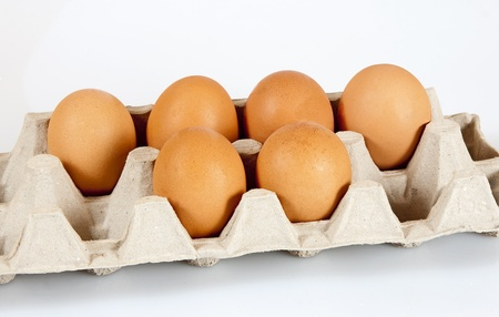 Fresh air hen eggs in the carton straight from the store