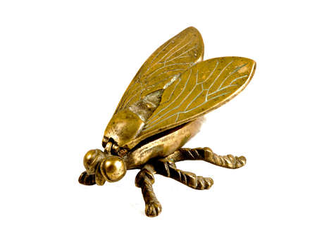 reflaction: Old decorative ashtray in the shape of the flies