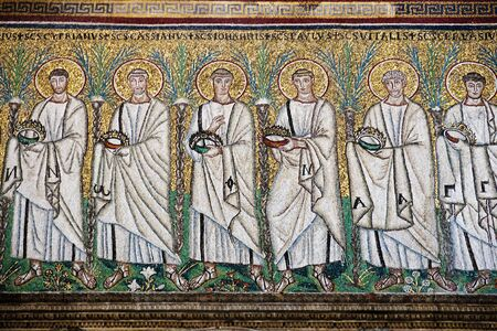 Early Christian mosaics found in the churches of Ravenna