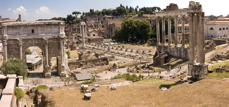 Ruins of Ancient Rome - view from the Campidoglio Stock Photo
