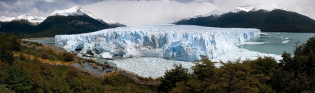 crack climbing: Ice formations glacier Perito Moreno is awesome Stock Photo