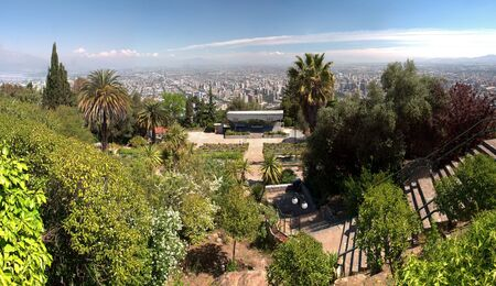 View of Santiago de Chile from the hills in the city center