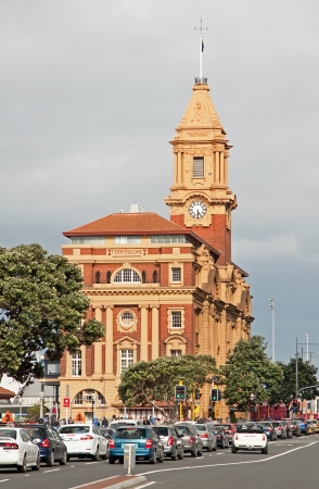 Historic yellow ferry building in Auckland Stock Photo - 14597354