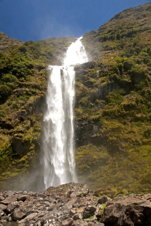 Sutherland Falls - heighest waterfall in New Zeland Stock Photo - 14606299