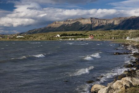 View of the hills near Puerto Natales photo