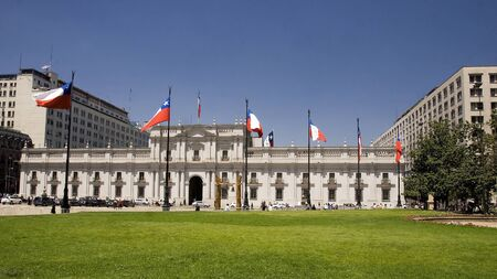 Presidential palace in downtown Santiago de Chile Editorial