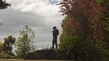 Tourist monument in the center in Te Anau Stock Photo - 14695001