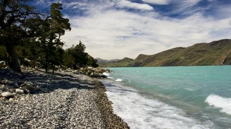 Beautiful beaches, azure also meets the mountains  Stock Photo