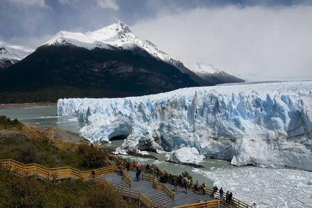 as one: Perito Moreno Glacier as one of the few in the world continues to grow